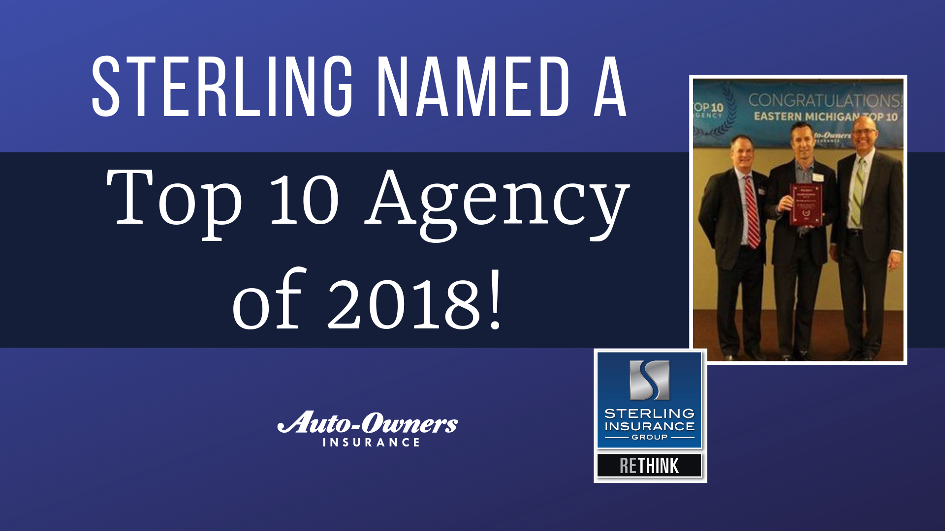 News: Sterling named an Auto-Owners Top 10 Agency in 2018 ...
